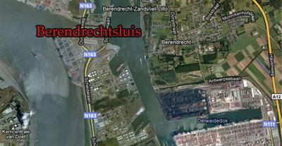 Ongeval op Schelde bij Berendrechtsluis