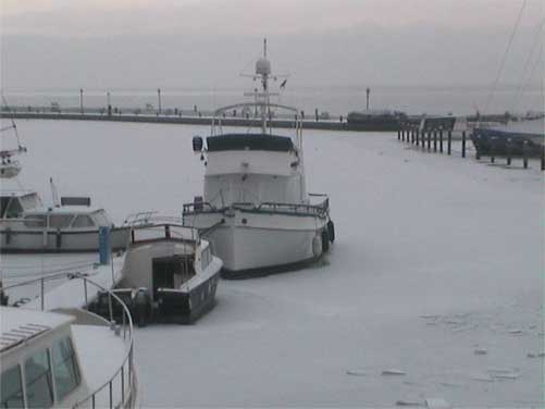 Webcam Volendam aan het Markermeer (winter)