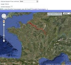 Online waterkaarten van de waterwegen in Frankrijk
