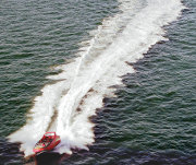 Varende powerboat