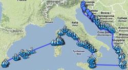 Zeiltocht met jacht Balansea over Middelandse Zee